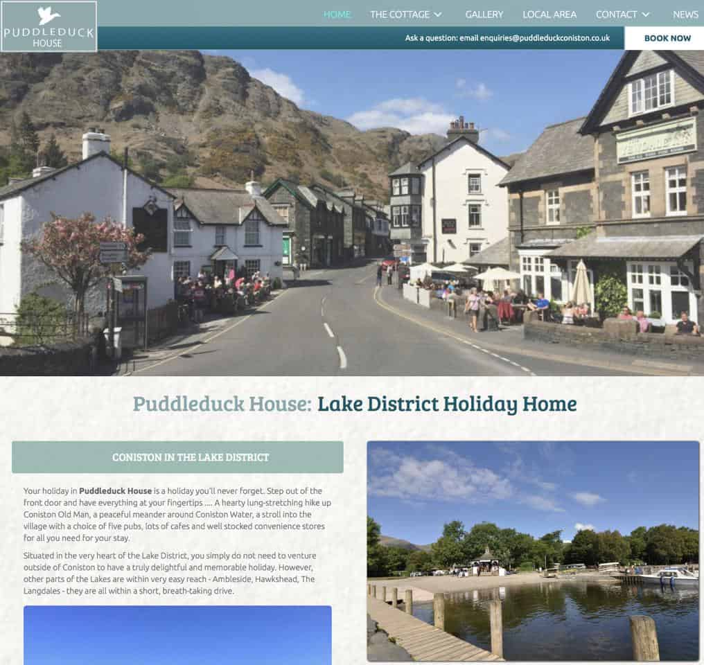Puddleduck House Holiday Cottage in The Lake District