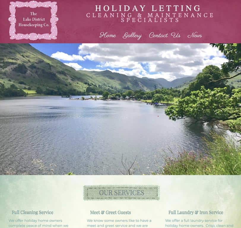 The Lake District House Keeping Website